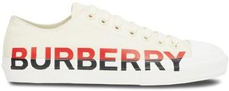 Burberry Tri-Tone Logo Print Sneakers