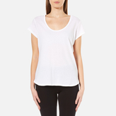 UGG Women's Betty Brushed Jersey Knit Short Sleeve TShirt - White