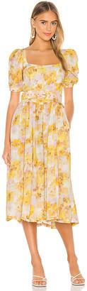 For Love & Lemons Zinna Midi Dress