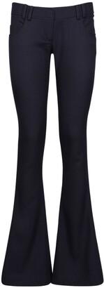Balmain Low-Rise Wool Twill Bootcut Pants