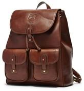 Ghurka Men's 'Blazer' Leather Backpack - Metallic