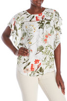 Joseph A Butterfly Sleeve Printed Top