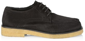 The Row Pony Hair & Leather Oxfords
