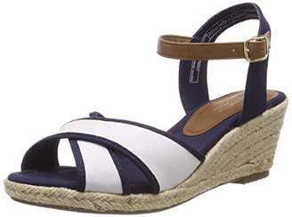 Tom Tailor Ladies 695200930 Strappy Sandals Blue (Navy 00003) 37 EU,4.5UK