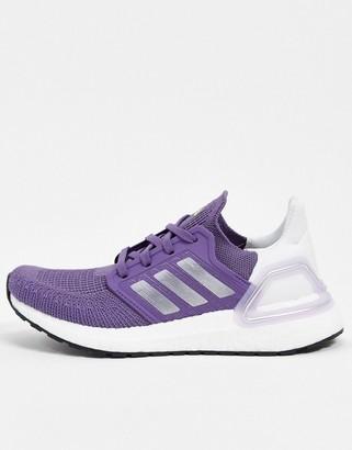 adidas Ultraboost 20 trainers in purple