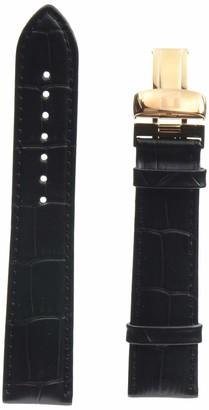 Tissot Leather Calfskin Black Watch Strap 20mm Width (Model: T600037906)