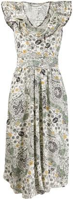 Etoile Isabel Marant ruffle trim Coraline dress