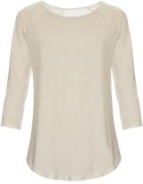 Raquel Allegra Cocoon shredded cotton-blend jersey top