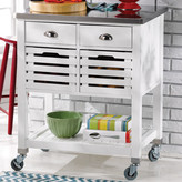 Andover Mills Kitchen Cart with Stainless Steel Top