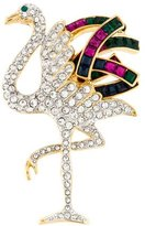 Kenneth Jay Lane Crystal Bird Brooch