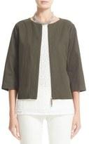 Fabiana Filippi Coated Cotton Blend Jacket