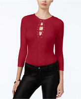 GUESS Arya Lace-Up Bodysuit