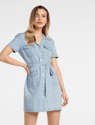 Ever New Sofia Utility Denim Mini Dress