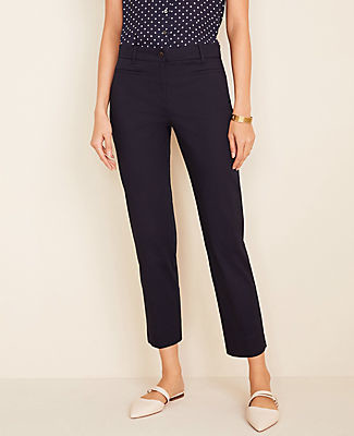 Ann Taylor The Petite Cotton Crop Pant - Curvy Fit
