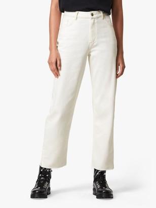 AllSaints Cali Straight Jeans, White