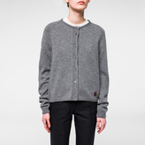 Paul Smith Women's Grey Merino Wool PS-Logo Cardigan