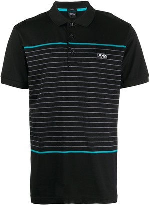 HUGO BOSS Stripe Print Polo Shirt