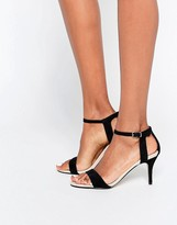 Carvela Kollude Black Kitten Heeled Sandals