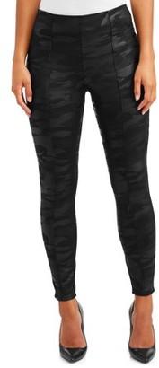 Sofia Jeans By Sofia Vergara Sofia Jeans Victoria Leopard Foil Ponte Legging Women's