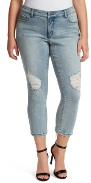 Jessica Simpson Trendy Plus Size Arrow Straight Ankle Jeans