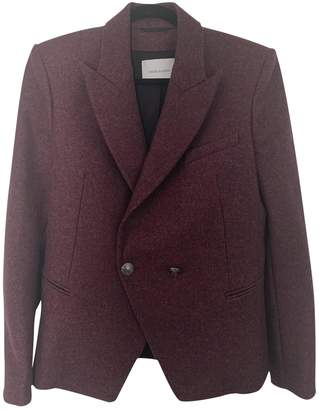 Pierre Balmain \N Burgundy Tweed Jacket for Women