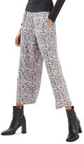 Topshop Jacquard Cropped Trousers