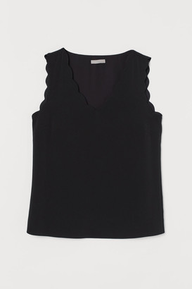 H&M Sleeveless Blouse - Black