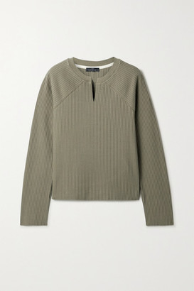 The Range Ribbed Stretch-cotton Sweater - Green