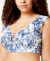 Becca Etc Plus Size Naples Bralette Bikini Top