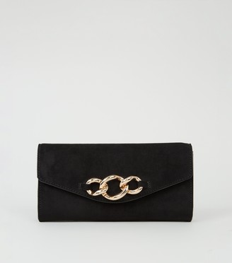 New Look Suedette Chunky Chain Clutch Bag