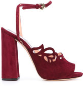 Rochas droplet detail sandals - women - Calf Suede/Leather - 37