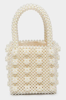 francesca's Erin Beaded Pearl Tote - Pearl