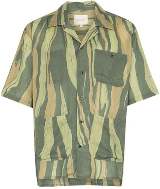 Nicholas Daley Aloha striped short sleeve shirt