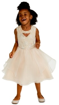 Rare Editions Little Girls Sequin Embroidered Dress