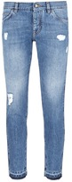 Dolce & Gabbana Selvedge outseam slim fit ripped jeans