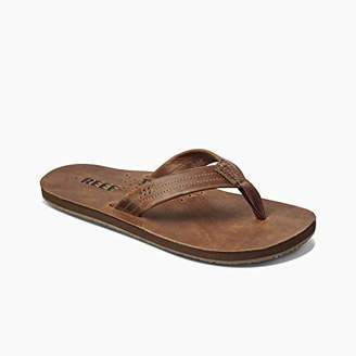 Reef Men's Leather Sandals Draftsmen | Bottle Opener Flip Flops For Men With Soft Cushion Footbed