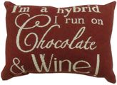 """B. Smith The Vintage House by Park Chocolate and Wine"""" Tapestry Oblong Throw Pillow"""