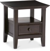 Canton End Table in Dark American Brown, , Direct Ship