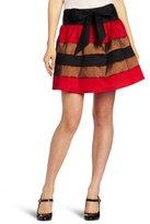 My Michelle Juniors Color Block Skirt