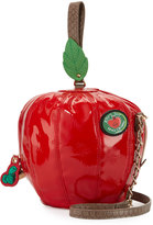 Betsey Johnson Apple-Shaped Crossbody Bag, Red
