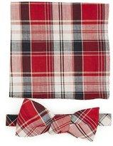 Skinny Tie Madness Plaid Bow Tie w/ Pocket Square