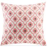 """Echo Sterling Embroidered Floral-Medallion 18"""" Square Decorative Pillow"""
