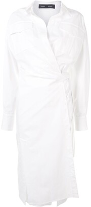 Proenza Schouler Wrap-Front Shirt Dress