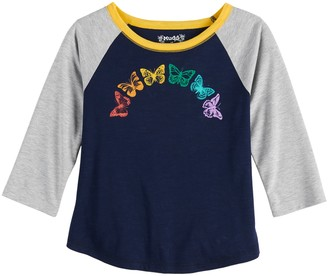 Mudd Girls 7-16 & Plus Size 3/4 Sleeve Graphic Tee