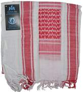 Tactical 365 Operation First Response Military Shemagh Desert Scarf (White/Red)