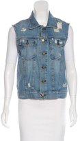 Current/Elliott Denim Distressed Vest