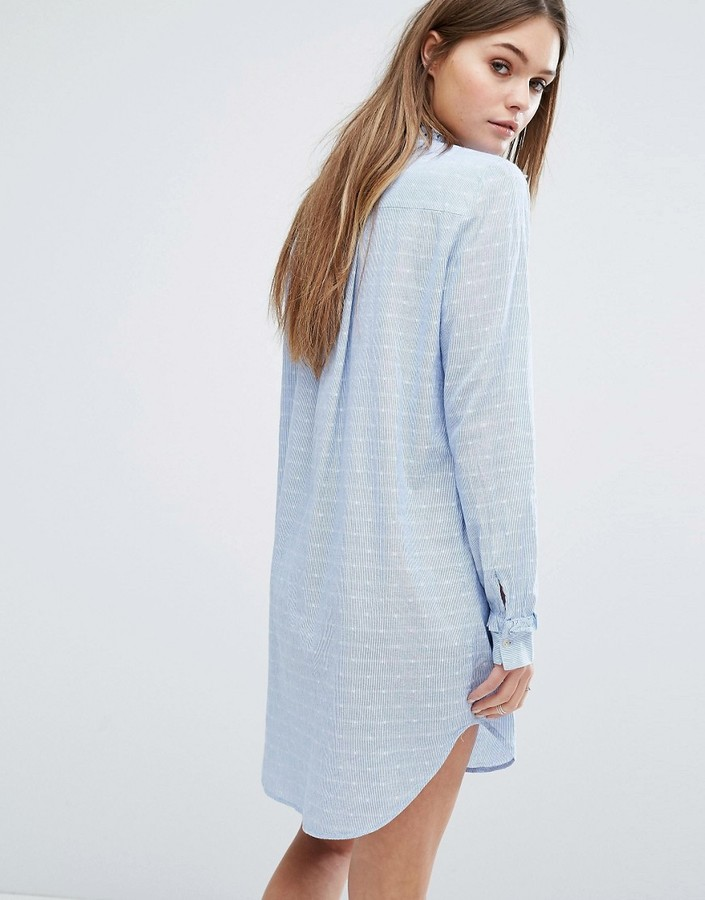Vero Moda Cut Away Collar Shirt Dress