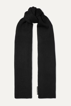 Alexander Wang Ribbed Merino Wool Scarf - Black