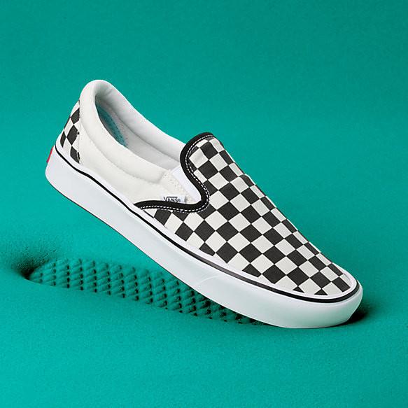 vans slip on checkerboard sale