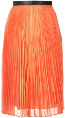 AKIRA NAKA Layered Pleated Midi Skirt